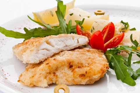 Halibut breaded «Paprikash»