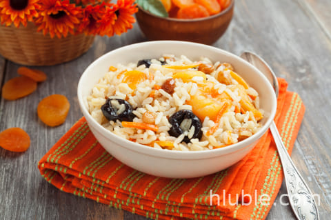 Pilaf with dried fruits