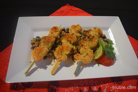 Breaded Shrimp Skewers